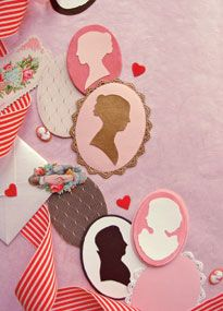 Downloadable cameo valentines from Victoria magazine