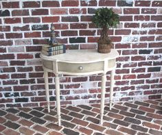 HalfMoon Crescent Accent Table by CrossRestorations   $125.00
