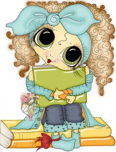 Sherri Baldy image941 I love books. Digitally colored by sarapaschal in Ps CC https://www.etsy.com/listing/260788175/instant-download-digital-digi-stamps-big
