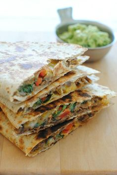 Slow Cooker Chipotle Steak Quesadillas - say anything!