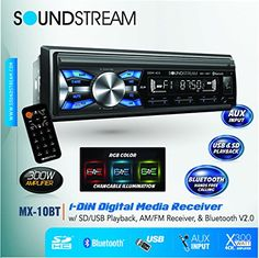 Soundstream MX-10BT Car Digital Media Player Stereo Receiver with Built-in Bluetooth - http://www.caraccessoriesonlinemarket.com/soundstream-mx-10bt-car-digital-media-player-stereo-receiver-with-built-in-bluetooth/  #Bluetooth, #BuiltIn, #Digital, #Media, #MX10BT, #Player, #Receiver, #Soundstream, #Stereo #Car-Stereos, #Electronics