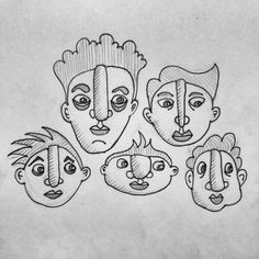Black Sheep Illustration Blog: Faces! (...what else??)