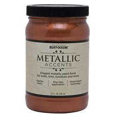 Rust-Oleum American Accents Copper Penny Gloss Metallic Latex Interior Paint (Actual Net Contents: 32-fl oz)