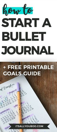 Here's exactly how to start a bullet journal, from finding the perfect bullet journal, all your writing supplies and bullet journaling ideas for your pages. Bullet Journal Printables, Bullet Journal How To Start A, Bullet Journal Layout, Bullet Journal Inspiration, Bullet Journal For Dummies, How To Journal, Bullet Journals, Mental Health Journal, Ideas