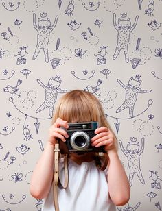 wall paper #behang #kids | muffinandmani