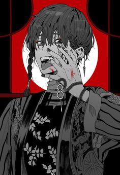 Fanarts Anime, Anime Characters, Pretty Art, Cute Art, Manga Art, Manga Anime, Anime Boy Zeichnung, Dark Anime Guys, Dark Anime Art