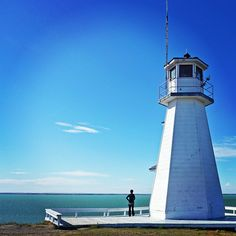 FUN FACT: Saskatchewan is landlocked, but we still have a working lighthouse! Built in 1988 this lighthouse, located at Cochin, is the perfect spot to take in a terrific view. For more info,. Tourism Saskatchewan, Saskatchewan Canada, Canadian Prairies, City North, Canada Eh, World View, Weird And Wonderful, Oh The Places You'll Go, Fun Facts