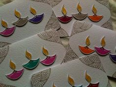 Happy Diwali - Mani's Creative Services Light, Diya, Festival of light, Handmade Diwali Cards https://www.facebook.com/pages/Manis-Creative-Services/199282263473677?ref=hl