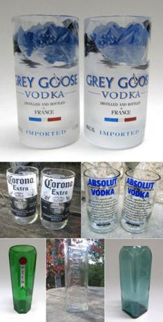 1000 images about re duse re use up cycle on pinterest for Alcohol bottles made into glasses