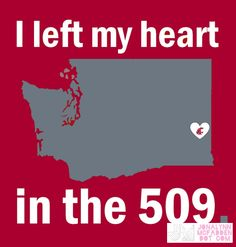 WSU I Left My Heart graphic by Jonalynn McFadden | Jonalynn McFadden Design | www.jonalynnmcfadden.com  Not for personal or commercial use without written consent. #GoCougs