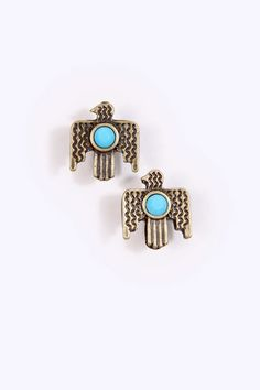 These Urban Outfitters Aztec eagle earrings are quite compelling.