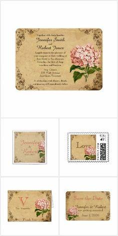 Vintage Pink Hydrangea Wedding
