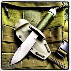 Hollow handled survival knife.  #designedbypatrickma