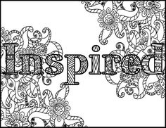 Inspired Adult Coloring Page