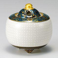 Made in Japan Kutani Yaki Porcelain Incense Burners Hakuhichiho