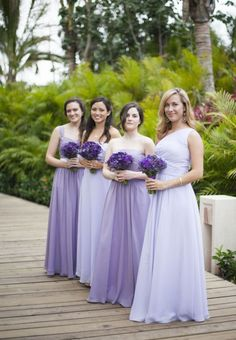 00e36113837 Gorgeous bridesmaid dresses - love the slight difference in both colour and  style. From  for her and for him