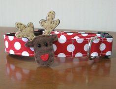 Rompin' Reindeer Custom Christmas Dog Collar