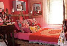 Red Color Minimalist Bedroom Design Ideas | Interior Minimalist Design