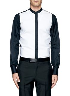 Alexander mcqueen Bonded Piqué Front Tuxedo Shirt in Multicolor for Men (Multi-colour) | Lyst
