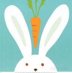 Peek-a-Boo I, Rabbit Prints by Yuko Lau at AllPosters.com