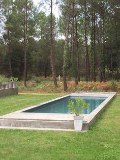 couloir de nage 15 mètre liner gris foncé