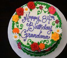 Grandma Birthday Cake Cakes Writing Dessert Recipes Bash