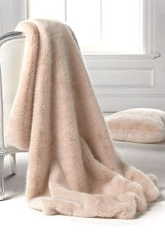 Blush Mink Faux Fur Limited Edition Throw Blankets