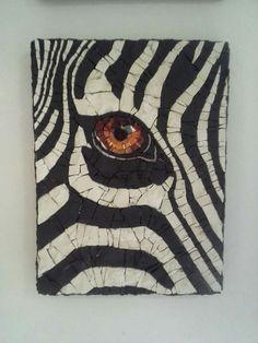 Go through the four stages of grief, but stop before you get to zebras - mosaic flooring quot;Go through the four stages of grief, but stop before you get to zebras - Mosaic Artwork, Mosaic Wall, Mosaic Glass, Glass Art, Mosaic Tiles, Mosaics, Mosaic Crafts, Mosaic Projects, Mosaic Designs