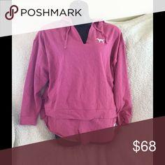 Victoria's Secret Pink fleece set Brand new Victoria's Secret Pink fleece sweatshirt and matching fleece shorts in dazzle pink 🎀 PINK Victoria's Secret Tops Sweatshirts & Hoodies