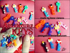 Adventure Keys - Adventure Time Mini Hama Beads by *pennysilver on deviantART