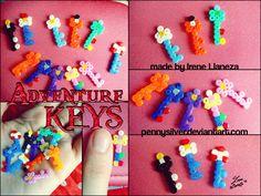 Adventure Keys - Adventure Time Mini Hama Beads by *pennysilver on deviantART
