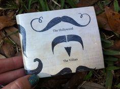 Mustache Duct Tape Wallet Billfold. $8.00, via Etsy.