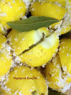 Moroccan Preserved Lemons, the recipe. Preserved Lemons, Greek Recipes, Kitchen Recipes, Preserves, Pineapple, Fruit, Food, Preserve, Pinecone