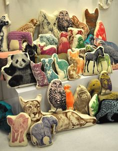 Animal Pillows by Fauna