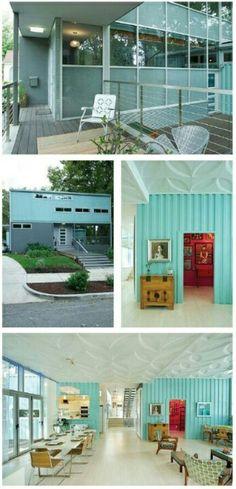 design containerverschiffung sitzecke außenbereich veranda geländer