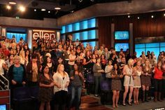 Be in the audience for an Ellen show.