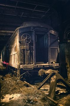 Grand Central's abandoned Track 61 - When President Franklin Delano Roosevelt was in office, he utilized a secret train line that connected Grand Central to the Waldorf-Astoria. The area even has a huge freight elevator that was used to fit his limousine allowing FDR to travel to and from New York City in secrecy during World War II. This was the train he used which still sits on Track 61.