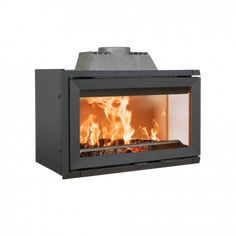 Despite its size, this insert is designed to burn at an optimal level even at low effect. The burn chamber is light with burn plates made from white vermiculite and durable white enamelled cast iron. Suitable for both fireplaces as well as old/open Modern Wood Burning Stoves, Insert Stove, Contemporary Fireplace Designs, Wood Burning Fireplace Inserts, Log Burner, Gas Stove, Cast Iron, Home Appliances, Cookers