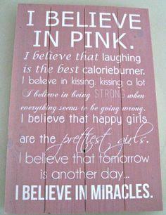 I believe in pink..... Muurstickerboetiek voor de hipste muurdecoratie