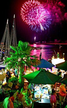 Fireworks light up the sky over HarborWalk Village during last year's Destin Seafood Festival. Destin Florida Vacation, Visit Florida, Florida Travel, Florida Beaches, Vacation Trips, Destin Beach, Vacation Travel, Vacation Ideas, Destin Attractions