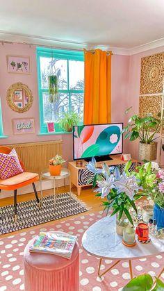 Living Tv, Boho Living Room, Living Room Decor, Small Living, Room Ideas Bedroom, Bedroom Decor, Wall Decor, Interior Design Living Room, Living Room Designs