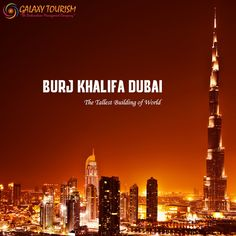 The World's Tallest Building, Burj Khalifa is a global icon that pushes the frontiers in design, architecture and construction. Book Tickets in Best rate Galaxy Tourism http://goo.gl/J69s9c ‪