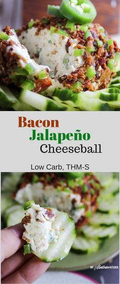 Easy Bacon Jalapeño Cheese Ball (Low Carb, Keto, T…