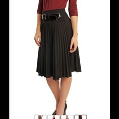 Black heavy pleated skirt Mikarose heavy pleated skirt in black. Brand new with tags. Skirts