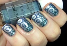 Love this Chirality and Barry M Stamped manicure... #steampunk