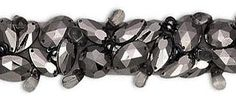 faceted jeweled organza trim in 16 colors