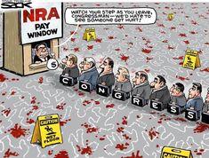 10/10/17  3:03p  Bloody Crimes  Congress NRA Pay Window   Steve Sack  mplsstartribune.com  cagle.com