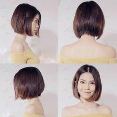 Pin by j l on CuttingItOff Asian short hair, Asian hair, Hair styles my new haircut asian - New Hair Cut Asian Haircut Short, Short Hairstyles For Women, Hairstyles With Bangs, Asian Hairstyles, Korean Short Hair Bob, Korean Haircut, Braid Hairstyles, Trendy Hairstyles, Asian Hair Bob