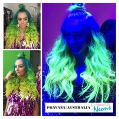 💙💚 😍We are loving this sneak peak of Brisbane Band Sheppard's 'Coming Home' video clip 📼📼🎵🎵😍. We are also very excited to see Pravana ChromaSilk Neons on set too!  Amy Sheppard is rocking some bright glowing neon locks and we are so very proud! Great work to @hair_by_jools from @element_hair  Brighten your client's world today and switch to the award winning Pravana colour and hair care range.  📞 1300 386 583  💻 www.pravanaau.com.au 📧hello@pravanaau.com.au Video Clip, Brisbane, Locks, Colour, Range, Salons, Neon, Bright, Australia