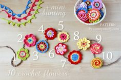 New Pattern – Big Crochet Flower Party ༺✿ƬⱤღ https://www.pinterest.com/teretegui/✿༻